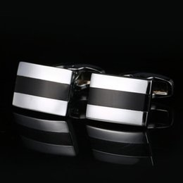 New striped French cufflinks Europe and the United States men's shirt sleeve cuff nail free shipping