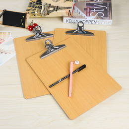 A4 A5 size wooden clipboard ranodm file Folder stationary board hard board Writing plate clip report office supplies free shipping 2018 new