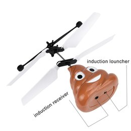 Hand Flying Poop Ball Mini Induction Suspension RC Aircraft Flying Remote Control Toys Drone helicoptero de controle remoto toys.