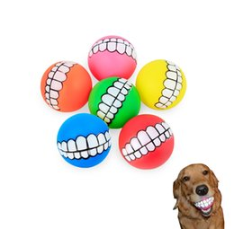 Tennis ball for dogs pet puppy dog funny ball teeth silicone toy chew sound dog play toy chew