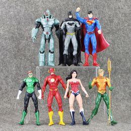 7PCS Lot Avenger Action Figures Captain America Spiderman Thor Hulk Bat Man X-Man Wolverine Flash black widow ironman Hawkeye 16.5-18CM