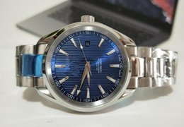 Factory Seller Luxury Watch Aqua Terra 522.10.34.20.03.001 Stainless steel Blue Dial Mens Automatic Mechanical Sport WristWatches