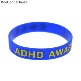 Hot Sell 1PC ADHD Awareness Silicone Wristband It is Great For Daily Reminder By Wearing This Colorful Bracelet