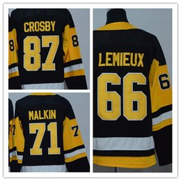 Factory Outlet, Hockey Jerseys #87 Sidney Crosby Jersey Home Black Road White Alternate Navy Blue Third Light Blue Jersey