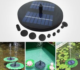 Solar Water Pump Floating Waterpomp Panel Kit Fountain Pool Pump Kit Lotus Leaf Floating Pond Watering