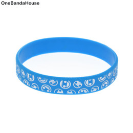 Wholesale 100PCS Lot Fashion Decoration Bangle Ink Filled Logo Bracelet Best Gift to Friend Neff Silicone Wristband