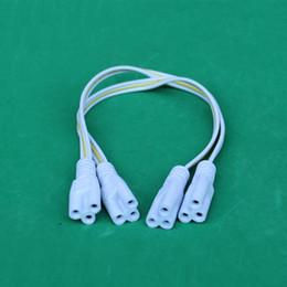 T5 T8 LED Tube Plug Power Cord Extension Cable Three Hole 3P 30CM 10pcs