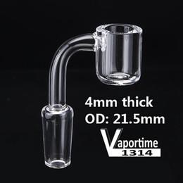 4mm Flat Top Quartz Banger Nail OD 22mm Female Male 10mm 14mm 18mm Glass Bong XL Nails Dab Rig 643