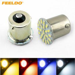 FEELDO 10PCS White Car 1156 BA15S 22SMD 3014 SMD LED Light Lamp Turn Signal Lights #3071