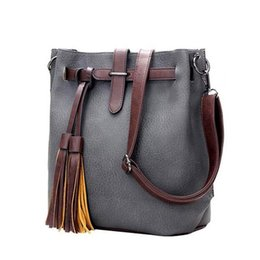 Hot Sale New Women PU Leather Handbags for Woman Fashion Designer Black Bucket Vintage Shoulder Bag Women Messenger Bag