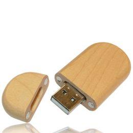 10 Piece 4GB 8GB No Logo Circular Wood U Disk Capacity Enough U Disk USB2.0 Environmental protection Circular USB Flash Drives