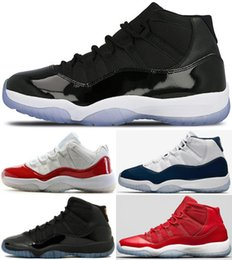 2018 High Quality 11 11s Space Jam Bred Concord Basketball Shoes Men Women 11s Gym Red Midnight Navy Gamma Blue 72-10 Sneakers With Box