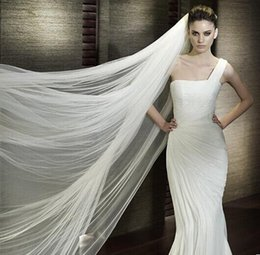 Ivory and white tulle wedding veil edge curvature comb two layers of the bride adorn article products sell like hot cakes bridal meter shor