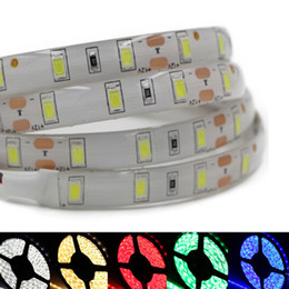 Retail smd 5730 Led Lights Strip 5m Roll 60LEDs m dc 12v Flexible Light Led Strips Wateproof Non-waterproof Warm Cold White Red Blue