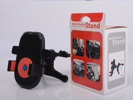 5 color Universal Car Mount Mobile Phone Holder Air Vent 360 Degree Rotation Colorful 30pcs lot