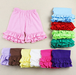 2017 ruffle shorts Candy Colors Girls Ruffle Pants Wholesale tye dye icing short
