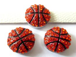 wholesale rhinestone 8mm slide charms sports basketball charms for charm bracelet fit pat collar wristaband