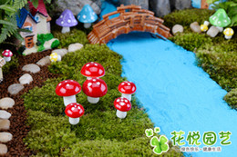 Fairy Garden Artificial Plant Miniature Decoration Miniature Mini Microlandscape Mushrooms Miniature Landscape Potted Plant Accessories