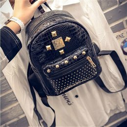 Wholesale New Women High Quality Brand Design Casual Pu Leather Crocodile Pattern Shoulder Bag Fashion Trend Ladies Backpack Bag