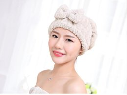 Dry hair cap thickened adult lovely bow tie shower cap, shampoo wipes hair dry towel dry towel