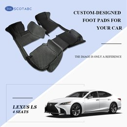 SCOT Custom-Fit All Weather Leather Car Floor Mats for Lexus LS long-wheelbase 4Seats Waterproof 3D Anti-slip Carpets Left Hand Drive Model