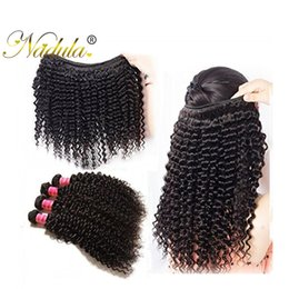 Nadula Human Curly Virgin Hair extensions Buy 3-4Bundles Get 1 Free Closure 13*4Lace Frontal Brazilian Malaysian Peruvian Indian Remy Hair