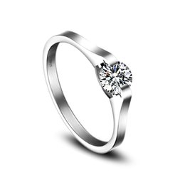 Wedding Rings Fine Jewelry Cubic Zirconia Ring For Women 925 Sterling Silver Rings