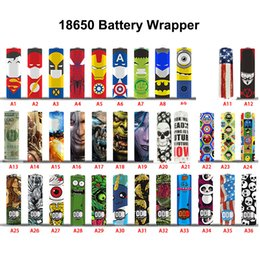 65 designs for 18650 20700 21700 battery Wraps PVC Sticker Shrinkable Wrap Cover Sleeve Heat Shrink Re-wrapping for Batteries Wrapper