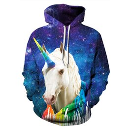 Youthcare Hoodie for Men and Women 3D printed Fly Horse Hoodie Oversize Pullover Long sleeve tops Sweater