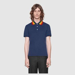 polo shirt fashion Short Sleeved animal embroidery polo t shirts men tee design printing poloshirts clothes Medusa tops
