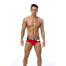 2018 Men Sexy Underwear Briefs Gay Penis Pouch Mens Bikini Brief Underwear Man Sleepwear Cotton(5pieces bag)BS113