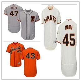 custom Men's Women Youth Majestic SF Giants Jersey #47 Johnny Cueto 45 Matt Moore 43 Ricky Romero Home Black Orange Baseball Jerseys