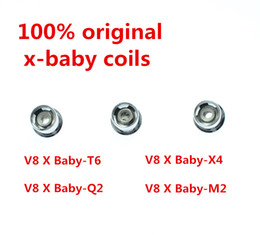 200% Authentic TFV8 X-Baby Coil Q2 0.4ohm M2 0.25ohm X4 T6 Dual Coils Replacement Head For TFV8 X-Baby Tanks Genuine