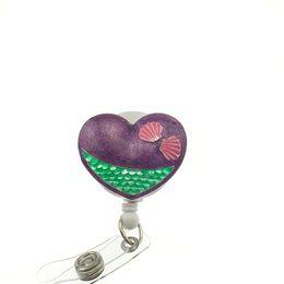 Medical healthcare Mermaid tail Heart Nurse suit enamel ID Name Tag Badge reel