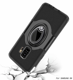Shockproof Armor Case Ring Kickstand Magnetic Suction for Samsung Galaxy s7 s7 edge S8 S8 PLUS S9 S9 PLUS J3 Emerge J5 J7 2017 150pcs lot