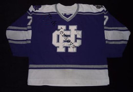 Factory Outlet, #7 Holy Cross Crusaders college Hockey Jersey purple for sale,buy stitched custom any name,any number and sizes hockey jerse