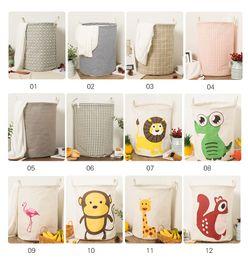 Toy storage basket children room organizer bins folding bag with handle self stand clothes storage laundry basket 35x45cm