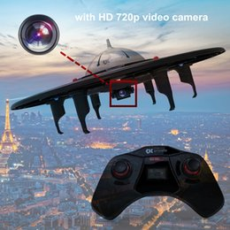 RC Drone with 720p HD Camera, 2.4GHz Ready to Fly Quadcopter with 4GB SD Card and LCD Display, easy to fly with remote control for drone