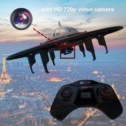 RC Drone con cámara HD 720p, 2.4GHz Ready to Fly Quadcopter con tarjeta SD de 4GB y pantalla LCD, fácil de volar con control remoto para dron