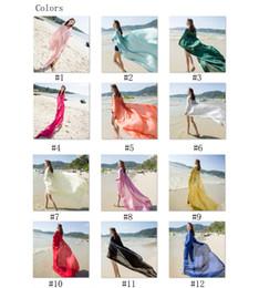 140x190cm Sun beach towel woman scarf summer sun block chiffon shawls scarf fashion swimwear bikini cover up hawaiian sarong
