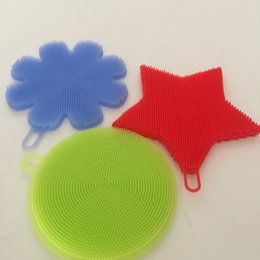 Silica gel dishwashing brush, silica gel dishwashing cloth, no hand washing, antibacterial cleaning, increased friction area and more
