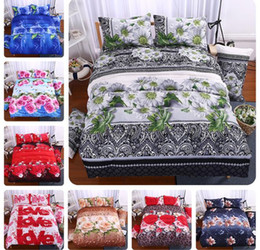 sheets comforters Promo Codes - 3D Rose Flower Bedding Set Flower Pattern 4 pcs Bedclothes Comforter Cover Set Bed sheet Pillowcase