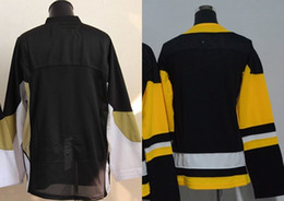 2016 New, Blank Jersey CCM Black Yellow Cheap No Name No Number Ice Hockey Jerseys Best Stitched Accept Mix Order