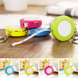 New Candy Color Keychain Tape Measure 1.5 Meters Quantity Clothing Size Tape Measure Small Tape Measure free shipping 2018 new high quality