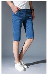 2018 Fashion Mens Summer Stretch Lightweight Thin Denim Jeans Short for Men Jean Shorts Pants Hot Sale