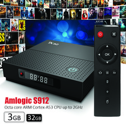 TX92 android tv box Amlogic S912 Octa core 3GB 32GB Android 7.1 Smart Box 2.5G+5.8G WiFi BT 4K Media Player