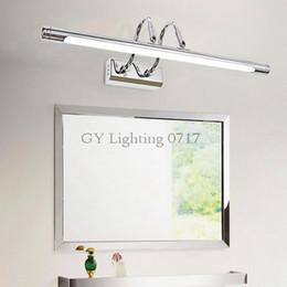 110V - 240V long 22cm to wall Silver Mirror headlight LED bathroom mirror cabinet light modern minimalist makeup vanity wall lamps