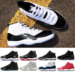 New 11 concord 45 Prom Night basketball Shoes men women Platinum Tint Cap and Gown bred gamma blue sports shoe sneaker