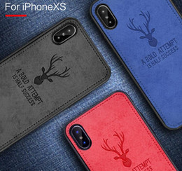 Cloth Deer Original Phone Case For iPhone XS MAX XR X 7 8 Plus Cover for iphone 6s Plus Back Shockproof Soft Cases New hot sell Cover 50pcs
