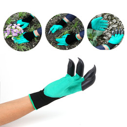Garden gloves right hand fingertip 4 claws gloves for digging and planting unisex waterproof resistant to thorns gloves no wear out
